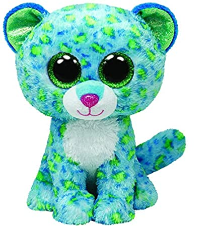 Image Unavailable. Image not available for. Color  Ty Beanie Boos Buddies  Leona Blue Leopard Medium Plush 2aa0fefdba9f