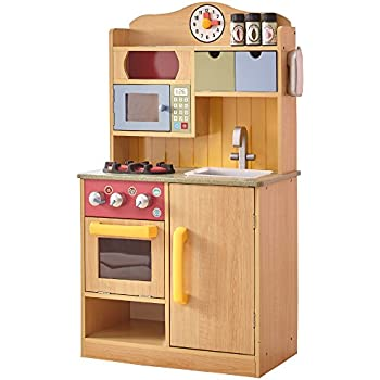 Attrayant Teamson Kids   Little Chef Wooden Toy Play Kitchen With Accessories    Burlywood