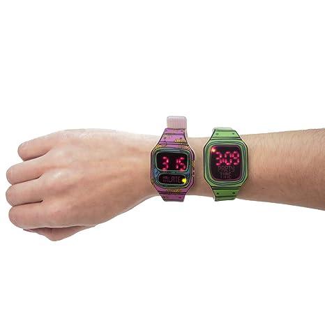 Helio Ferretti Reloj de Pulsera Led Cartón, Silicona Y Leds, Mixto, Medio