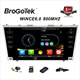 Car Head Unit Touchscreen Car Radio with Backup Camera GPS DVD Radio Navigation for Car Toyota Camry 2006-2011 8 inch Full Touch Screen Car Receiver 2 DIN Stereo BT Mirrorlink Handsfree