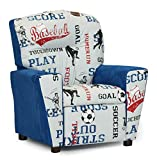 Sports - Blue Suede Kids Recliner 644352