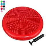 Trideer Inflated Stability Wobble Cushion with Pump, Extra Thick...