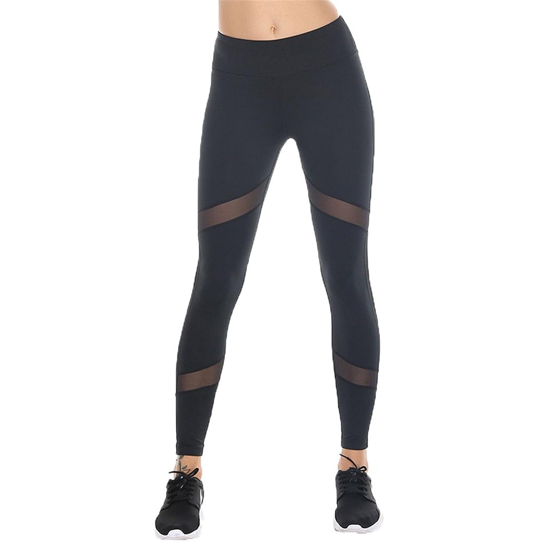 Fanceey Women Sports Leggings Running Tights Compression Elastic Yoga Pants