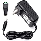 LE DC 12V 2A Power Supply Adapter, AC 100-240V to DC 12V Transformers, Switching Power Supply for 12V 3528/5050 LED Strip Lights, 24W Max, 12 Volt 2 Amp Power Adaptor, 2.1mm X 5.5mm US Plug