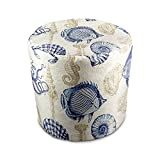Stratford Home Indoor / Outdoor Ottoman Pouf, Sealife Marine