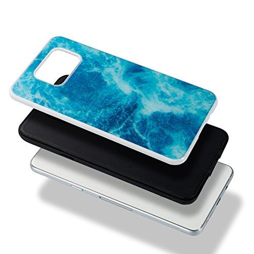 Funda Samsung Galaxy A5 2016 / A510, 5.2 pulgadas, Cáscara Samsung Galaxy A5 2016 / A510, Alfort Casco de Protección PC + TPU Material de la PC + TPU de alta calidad diseño de moda líneas de mármol ro Marino Azul