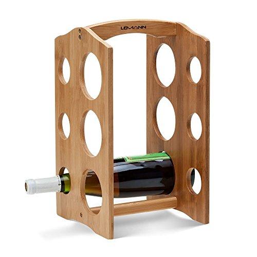 Suporte para Vinho Tabelle em Bambu 6 Garrafas – LEMANN