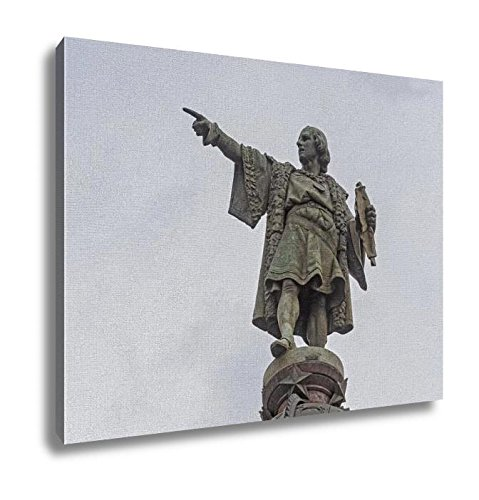 Ashley Canvas, Statue Of Columbus In Barcelona Spain, Home Decoration Office, Ready to Hang, 20x25, AG6376636 by Ashley Canvas