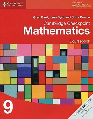 Cambridge Checkpoint Mathematics Coursebook 9 (Cambridge International - 9 Cambridge