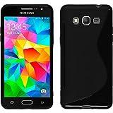Silicone Case for Samsung Galaxy Grand Prime - S-Style black - Cover PhoneNatic + protective foils