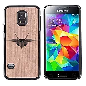 - / Fighter Jet Airplane Military Air Force - - Funda Delgada Cubierta Case Cover de Madera / FOR Samsung Galaxy S5 Mini G870a / Jordan Colourful Shop/