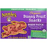 Annie's Berry Patch Organic Bunny Fruit Snacks 5-0.8 oz. Pouches ,5 Count