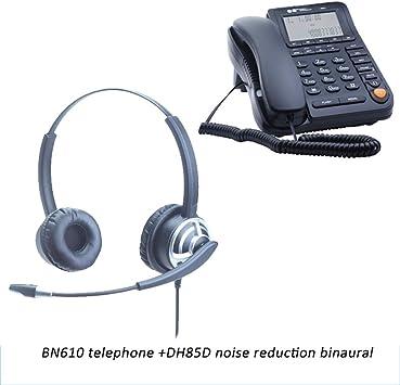 DHLIZI Teléfono con Cable Línea telefónica de atención al Cliente ...