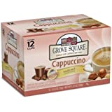 Grove Square Cappuccino, Hazelnut, 12 Single Serve Cups (Pack of 3)