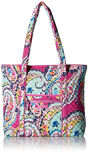 Throw Focus College (Vera Bradley Iconic Vera Tote, Signature Cotton, Wildflower Paisley)