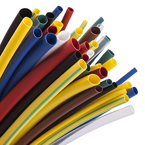 4in White Shrink Tubing - High-Heat-Shrink-Tubing-Tube Maxwel Manufacturing VERSAF-H Half Shrink Ratio Sleeving Flame Retardant 9 Color Available UL Listed 162 PCS Included in a Transparent Plastic Box(2018 New Packing Design)
