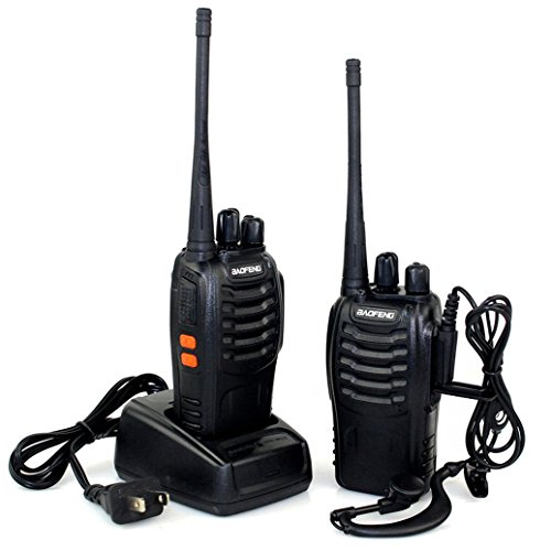 Baofeng BF-888S Walkie Talkie 2 Pack, Two Way Radio Long Range UHF FM Transceiver CTCSS DCS Portable Ham Radio Pocket Handheld Amateur Radio with Earphone