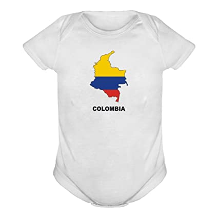 Colombia Country Map colour Baby Body blanco blanco Talla:6M ...