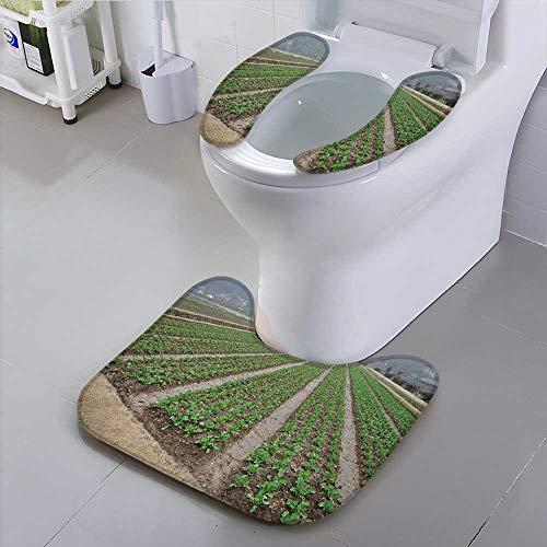 Jiahonghome Toilet seat Cushion The Vegetable Garden Machine-Washable -