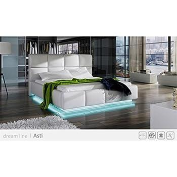 Amazon Com Go Asti White Modern Platform Bed Queen Size