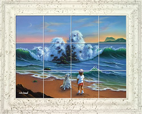 Canine Companion UV Framed Ceramic Tile Mural 31
