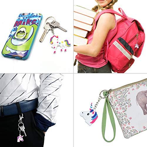 Pink Rainbow Unicorn Backpack, Waterproof Backpack 4 Set (Drawstring Set 2)