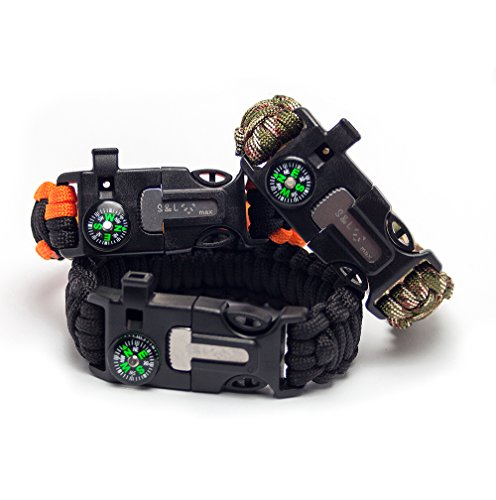 S&L max Bracelet Paracord 5-in-1 from is an indispensable Attribute for Survival in Extreme Conditions. Bracelet Made of Strong parakord Rope Will Serve as a Reliable Companion