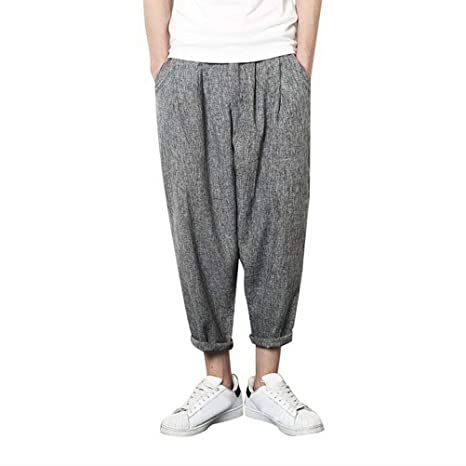 Pantalones de chándal Sueltos con Cintura elástica para Hombre ...