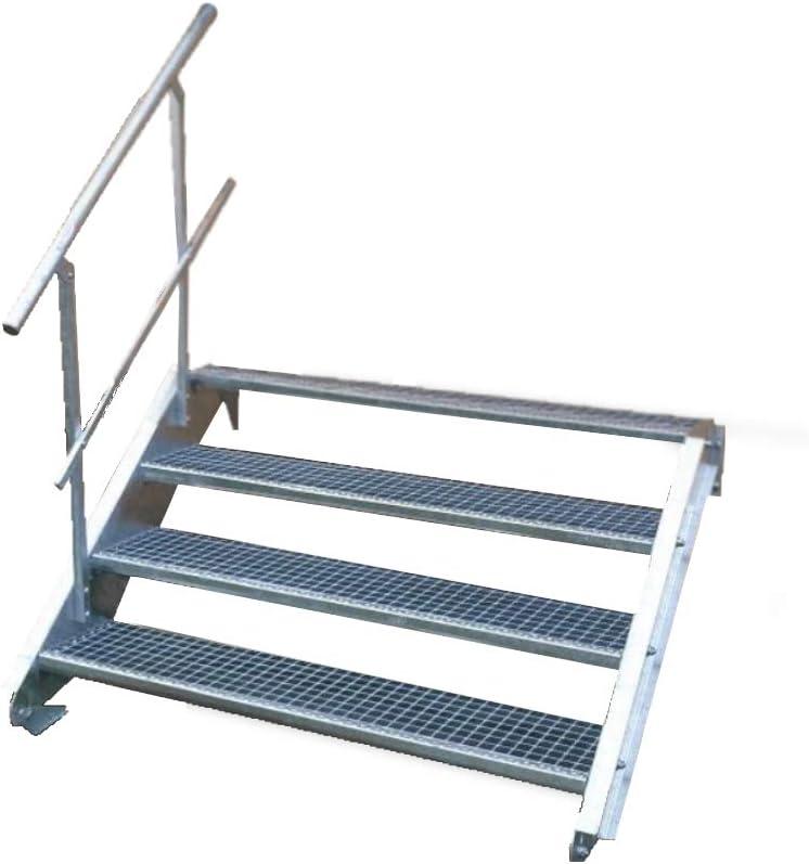 Geschosshöhe 40-60cm verzinkt Stahltreppe Treppe 3 Stufen Stufenbreite 80cm