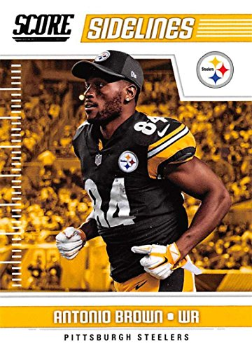 43aff804d Amazon.com  2018 Score Sidelines  8 Antonio Brown Pittsburgh Steelers  Football Card  Collectibles   Fine Art