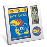 NCAA University of Kansas Desk Clock, Black