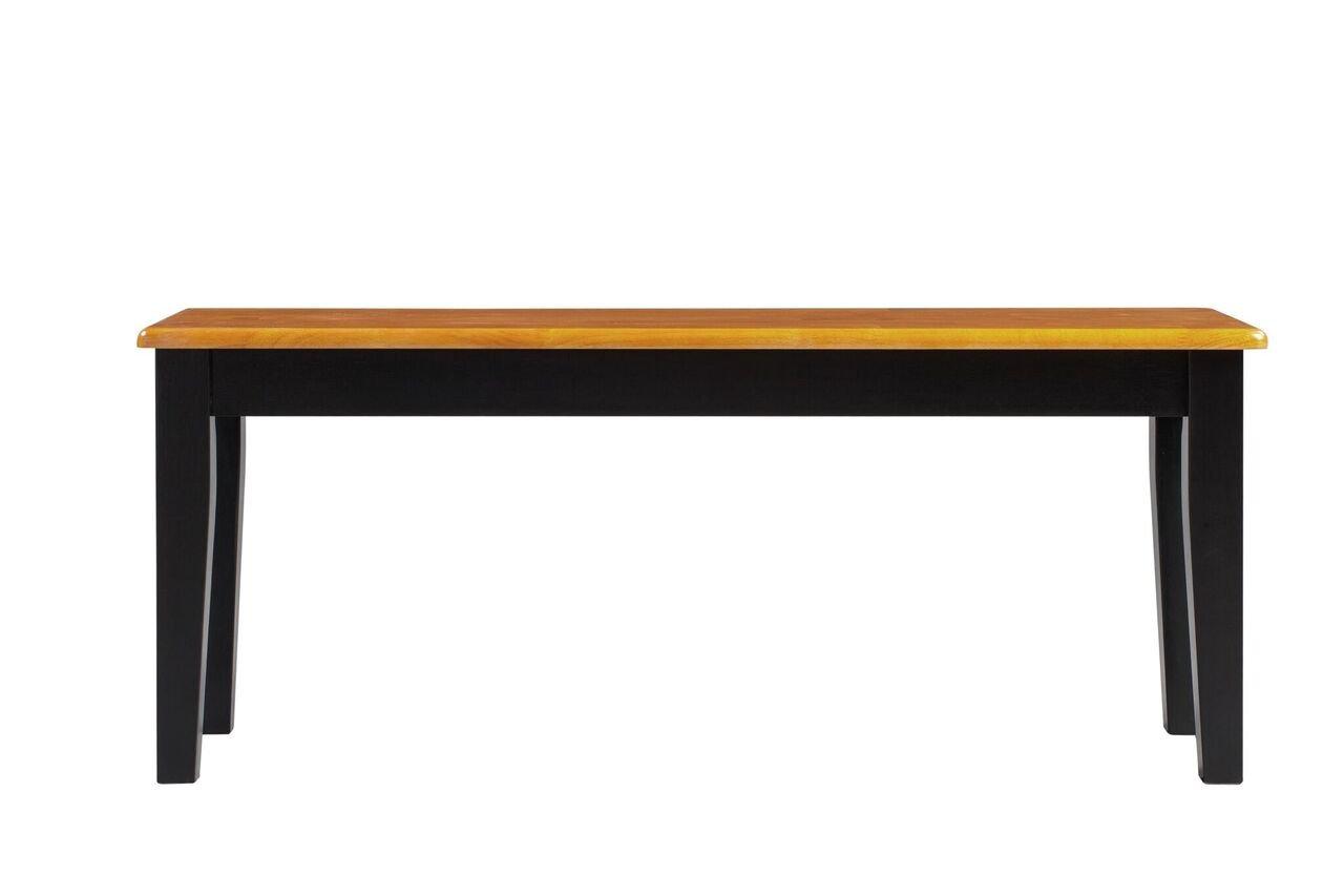 Boraam 36536 Shaker Bench, Black/Oak