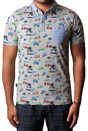 D CODE Herren Polo-Shirt 1X2257 marl grau Gr. L