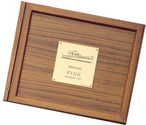 WEEMS & PLATH Boat Log Book Teak Cover (Power Plate) (Log & Plath Weems)