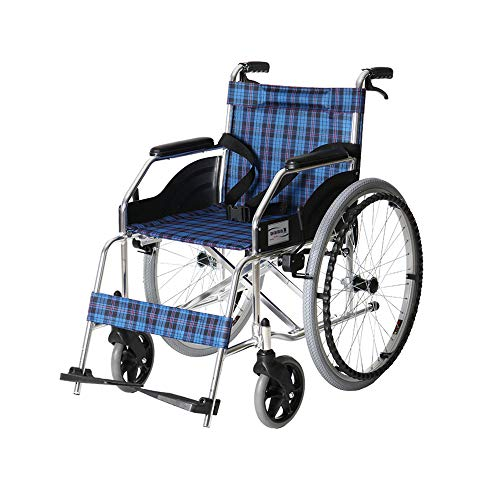 XF Wheelchair Manual Wheelchair Portable Folding Lightweight Old Aluminum Alloy Wheelchair Disabled Scooter Care Car Size: 6510390cm Armchairs