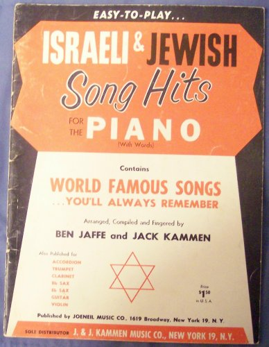 Easy-to-Play: Israeli and Jewish Song Hits for the Piano