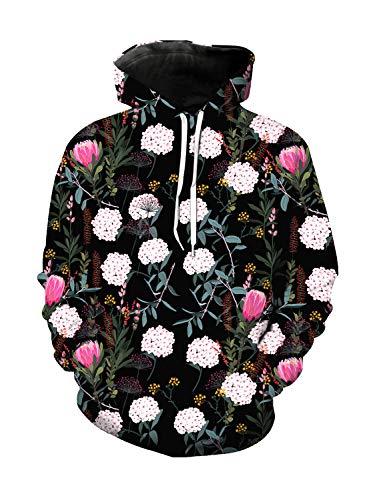 WAZZIT Unisex 3D Printed Long Sleeve Hoodies Hooded Casual Sweatshirts Pocket Pullover, L ()