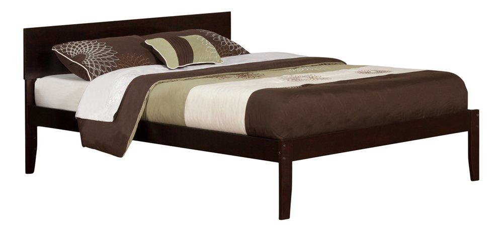 Atlantic Furniture Orlando Platform Bed with Open Foot Board, Queen, Espresso