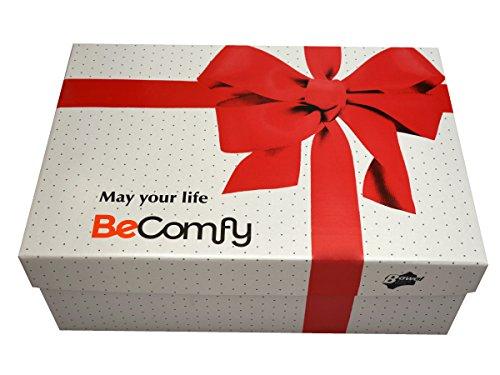 BeComfy Warme Hausschuhe Damen Herren Hüttenschuhe Aus Schafwolle Geschenkkarton (Wahlweise) Leo