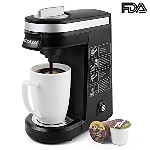 CHULUX Single Serve Coffee Maker Brewer for K Cups with 12 OZ Water Tank(Black)