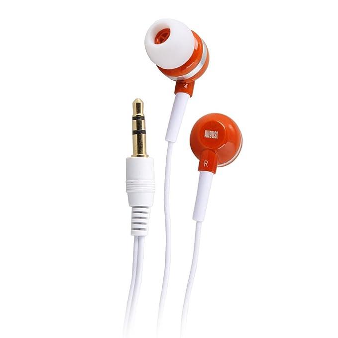 August EP510 - Auriculares Universales In-Ear Estéreo: Amazon.es: Electrónica