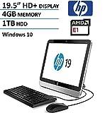 HP 19 All-In-One AIO 19.5 Inch Desktop Computer (HD+ LED, AMD Dual-Core 1.35GHz CPU, 4GB DDR3 Memory, 1TB HDD, DVD RW, USB3.0, Wifi, RJ-45, Windows 10 Home) (Certified Refurbished)