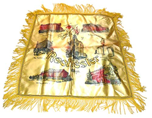 Vintage Rochester, Minnesota Sweetheart Souvenir Pillow Sham Pillowcase ()