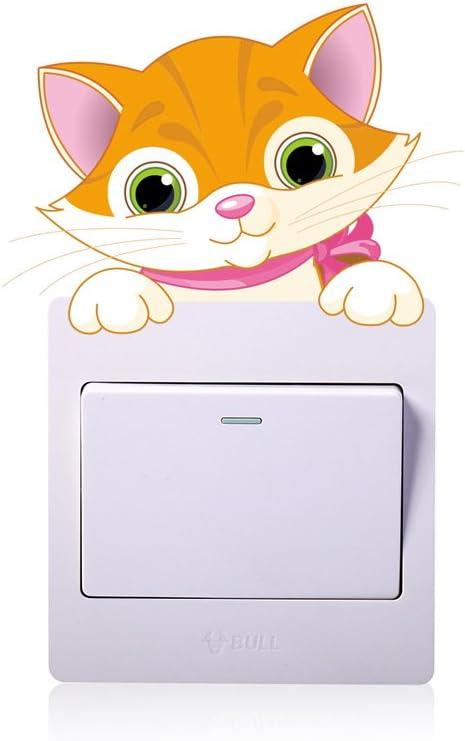 Rainbow Fox Commutateur d/écoration Commutateur Autocollants des Gamins Animal Stickers muraux /Él/éphant Lion Chats Panda Cat Girafe