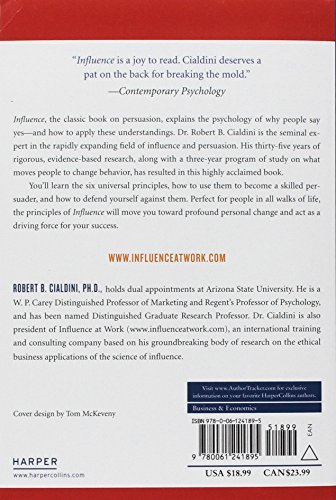 Influence: The Psychology of Persuasion - back