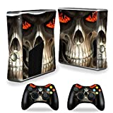 xbox 360 reaper skins for console - MightySkins Protective Vinyl Skin Decal Cover for Microsoft Xbox 360 S Slim + 2 Controller skins wrap sticker skins Evil Reaper