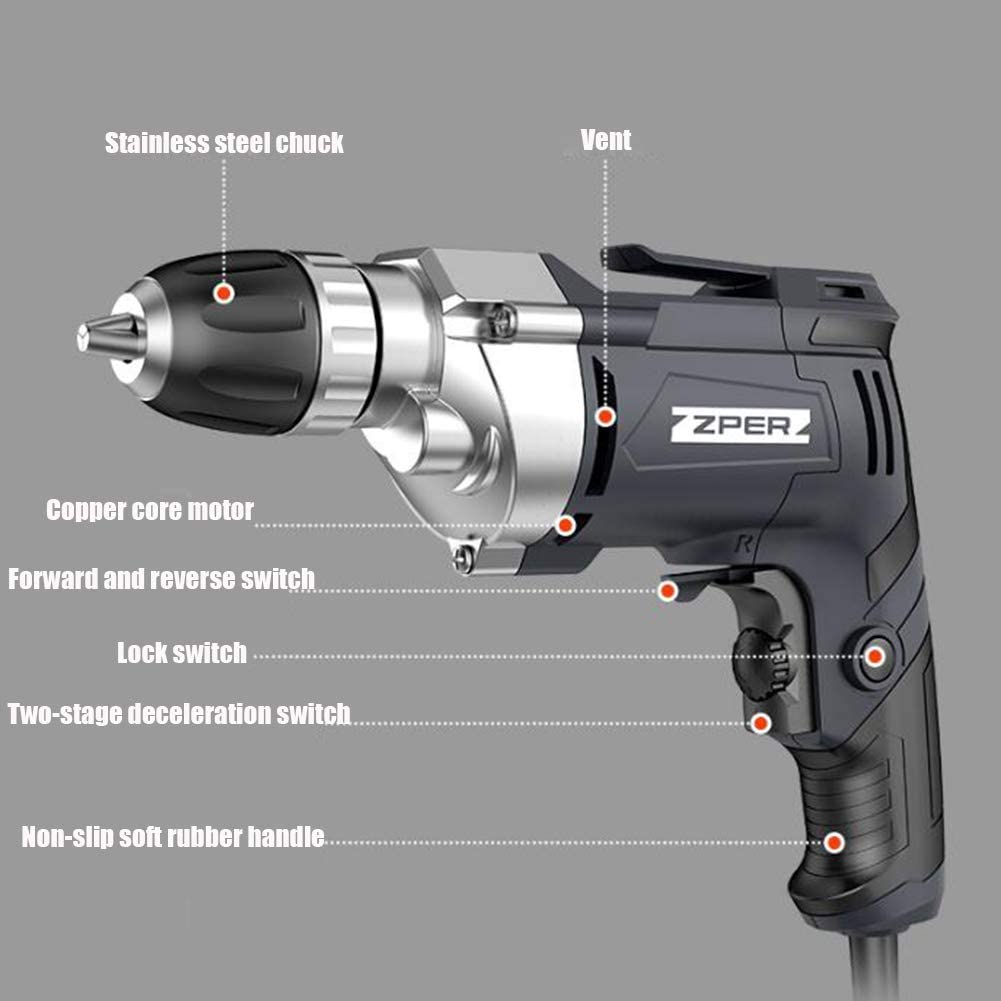 Handheld DIY Tool for Drilling J/&Y Cordless Drill Driver,21V 32Nm Compact Electric Drill Cordless Set Electric Drill with Variable Speed Trigger 1 Battery 1500Mah Tightening /& Loosening