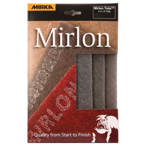 Mirka 18-118-448RP 3 pieces 4 1/2-Inch by 9-Inch Ultra Fine Scuff Pads (Grey) 1500 grit