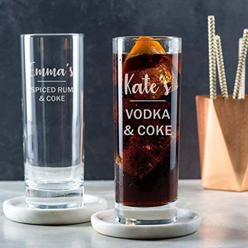 Personalised Highball Glass - Alcohol Gifts For Women / 21st Birthday Gifts For Her/Gin