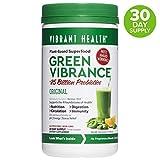 Vibrant Health, Green Vibrance, Plant-Based Superfood Powder, 25 Billion Probiotics Per Scoop, Vegetarian and Gluten Free, 30 Servings